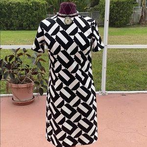 Beautiful Trina Turk Black/White Dress Sz. XS New